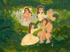Tarzan and Jane with Background